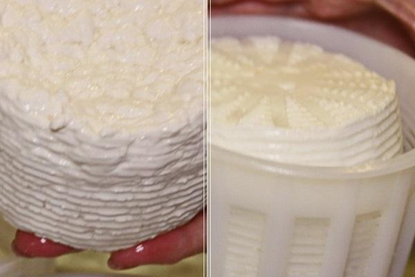 Сырная масса в форме