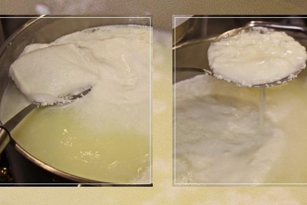 Сгустки сырной массы